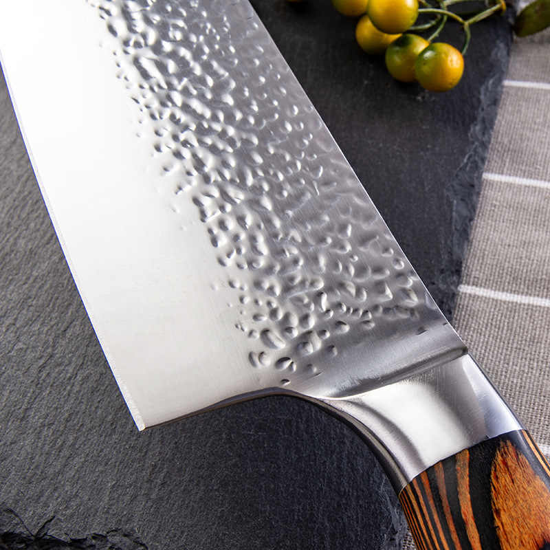Shuojiプロの日本nakiriナイフ 5Cr15movステンレス鋼の台所の調理ナイフ小包丁寿司刺身ナイフ 6.7 インチ