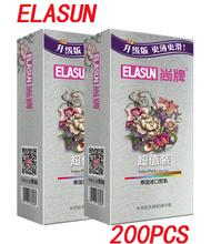 Elasun 100 sztuk paczka Ultra cienkie prezerwatywy wysokiej jakości duże oleju prezerwatywy z naturalnego lateksu dla mężczyzn rękawy antykoncepcji najlepsza oferta tanie tanio Chin kontynentalnych ELASUN-ZH100