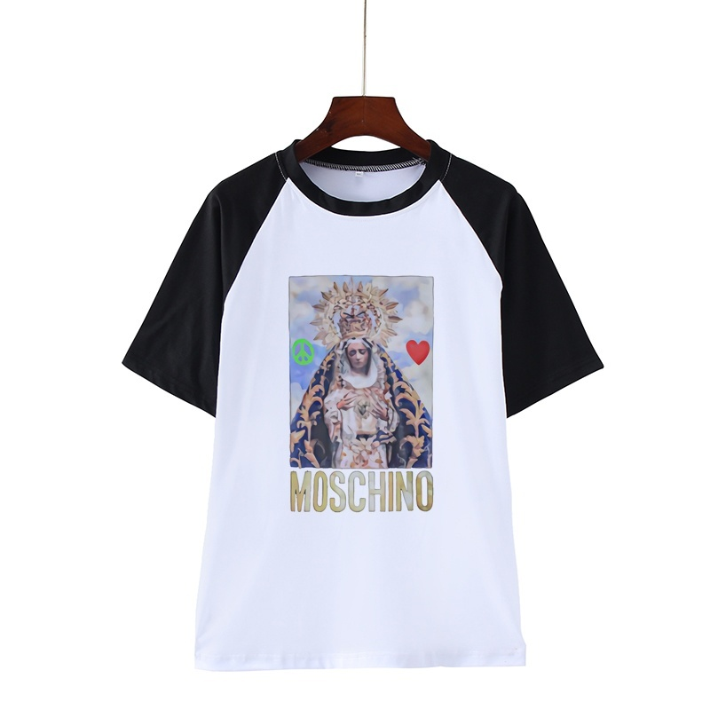 Moschino With Madonna T Shirt Black Summer Men Women Tee Short-sleeved Tshirt Hip Hop Cool Graphic Top Tees T-shirt Funny