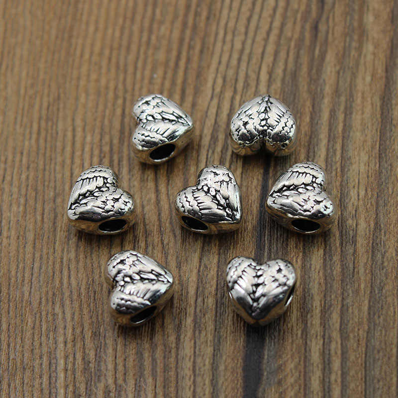 Bulk 10pcs Tibet Sliver Hollow Out Loose Beads Spacer Charms Findings 16*11mm#Q