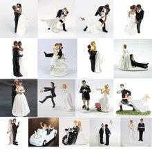 ロマンチックな新郎 & 新婦と結婚樹脂置物ウエディングケーキトッパーウェディングデコレーション