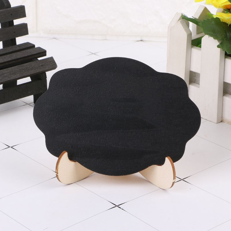 10pcs Wooden Mini Blackboard Cloud Shape Table Sign Memo Message Stand Chalk Board Wedding Party Decoration Supplies R9UA