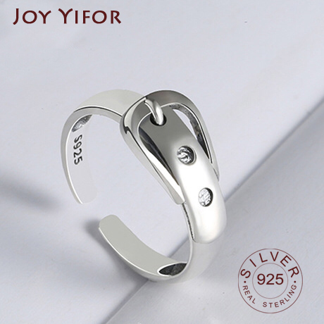 Wave Ring Real 925 Sterling Silver Belt Fine Jewelry For Charm Women Birthday Party Accessories Gift