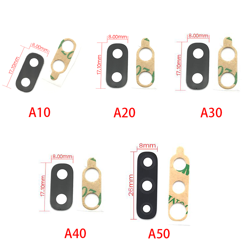 2Pcs/Lot, Back Camera Glass For Samsung A10 A20 A30 A50 A40 A60 A70 M10 M20 M30 Rear Back Camera Glass Lens With Glue Adhesive
