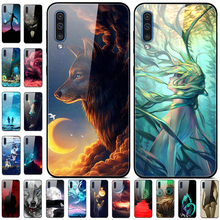 For Samsung Galaxy A50 Case Tempered Gla