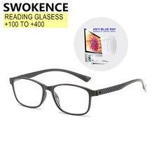 Gafas de lectura con luz azul para hombres y mujeres, graduadas + 100 + 150 + 200 + 250 + 300 + 350 + 400, gafas de presbicia para hipermetropía, R509