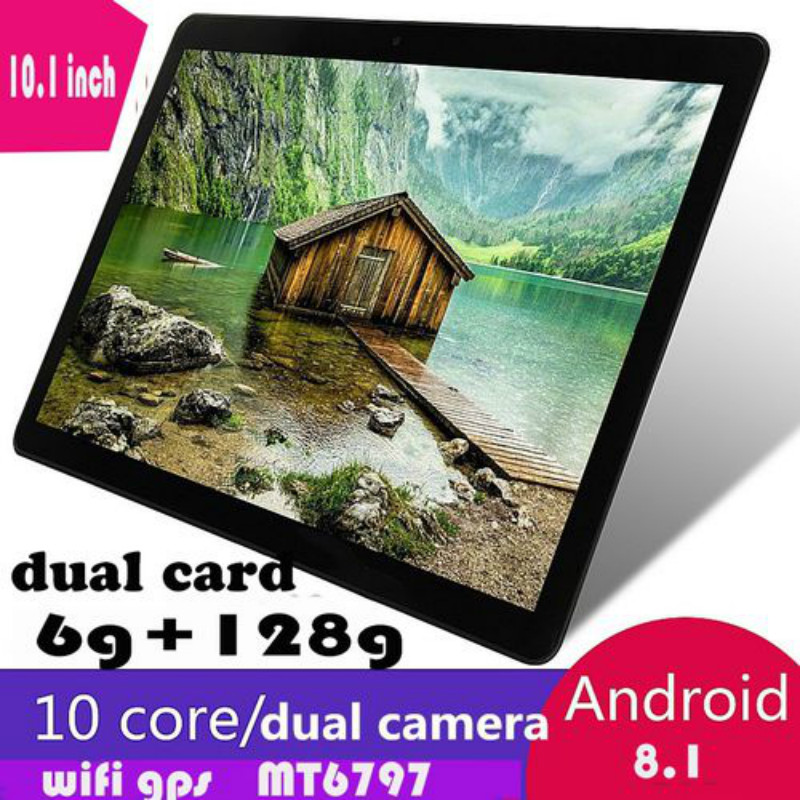 2020 Fashion 10.1 Inch 10 Core 6G+128GB Android 8.1 Dual Sim 5.0 MP Dual Camera 4G Call Phone Pad Wifi Tablet PC Kid Gift Tablet