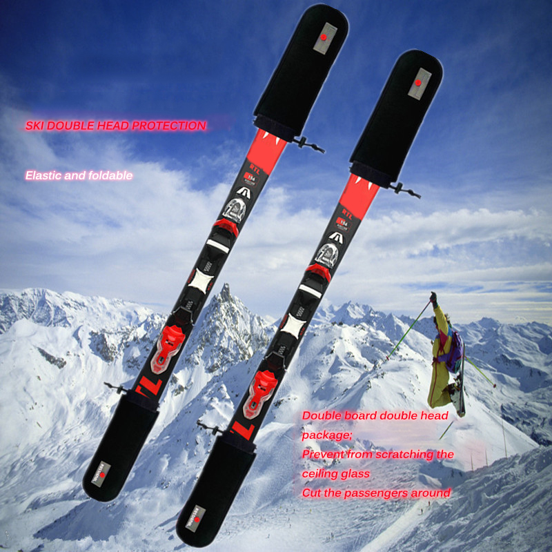 Ski Board Protection Scratchproof Soft Elastic Skiing Equipments Thick Strong Durable Ski Board Practical Snowboard Head Cover