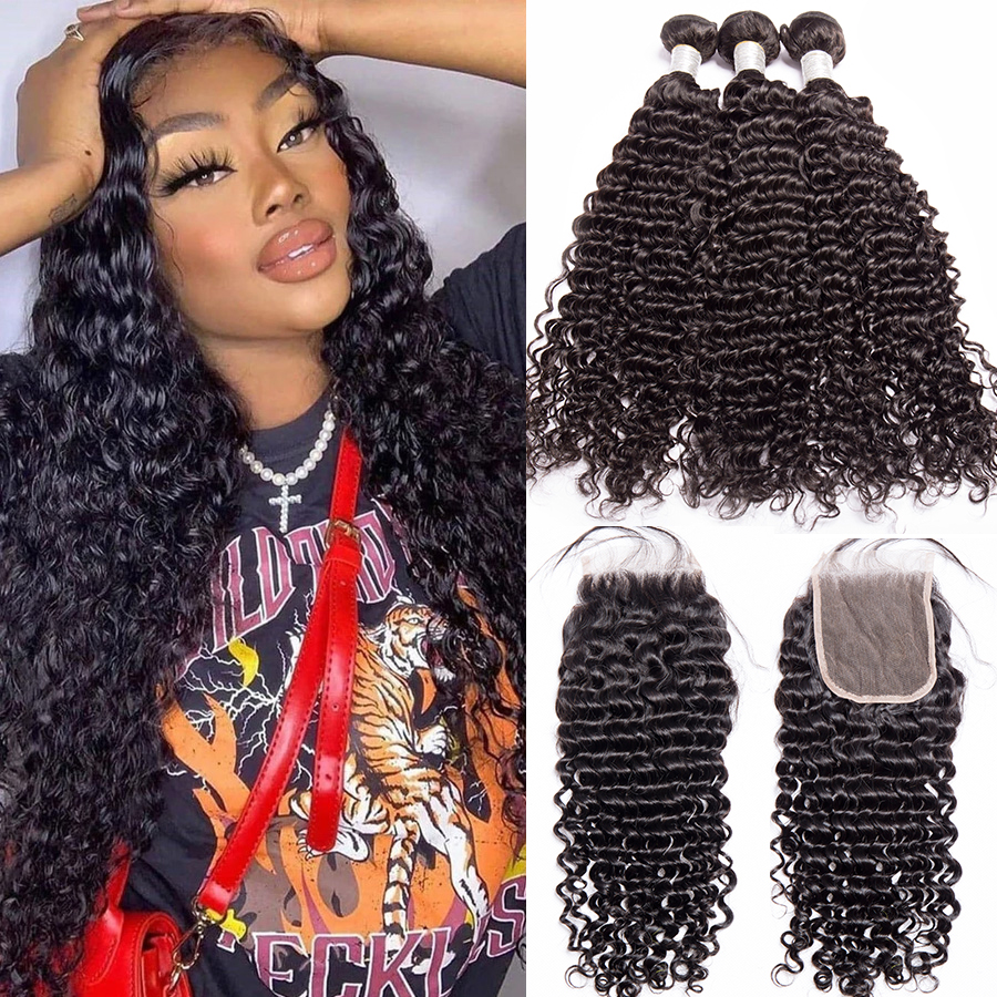 Best Top 10 Lace Frontal Closure With Bundles Deep Waves Near Me And Get Free Shipping A809