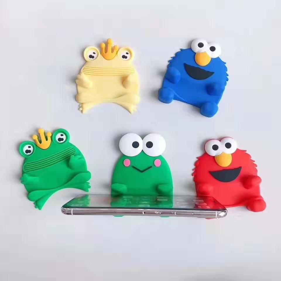 Phone Holder Cute Cartoon Mobile Phone Stand Bracket Design Animal Bear Frog Silicone Phone Accessories Holder For Smartphone