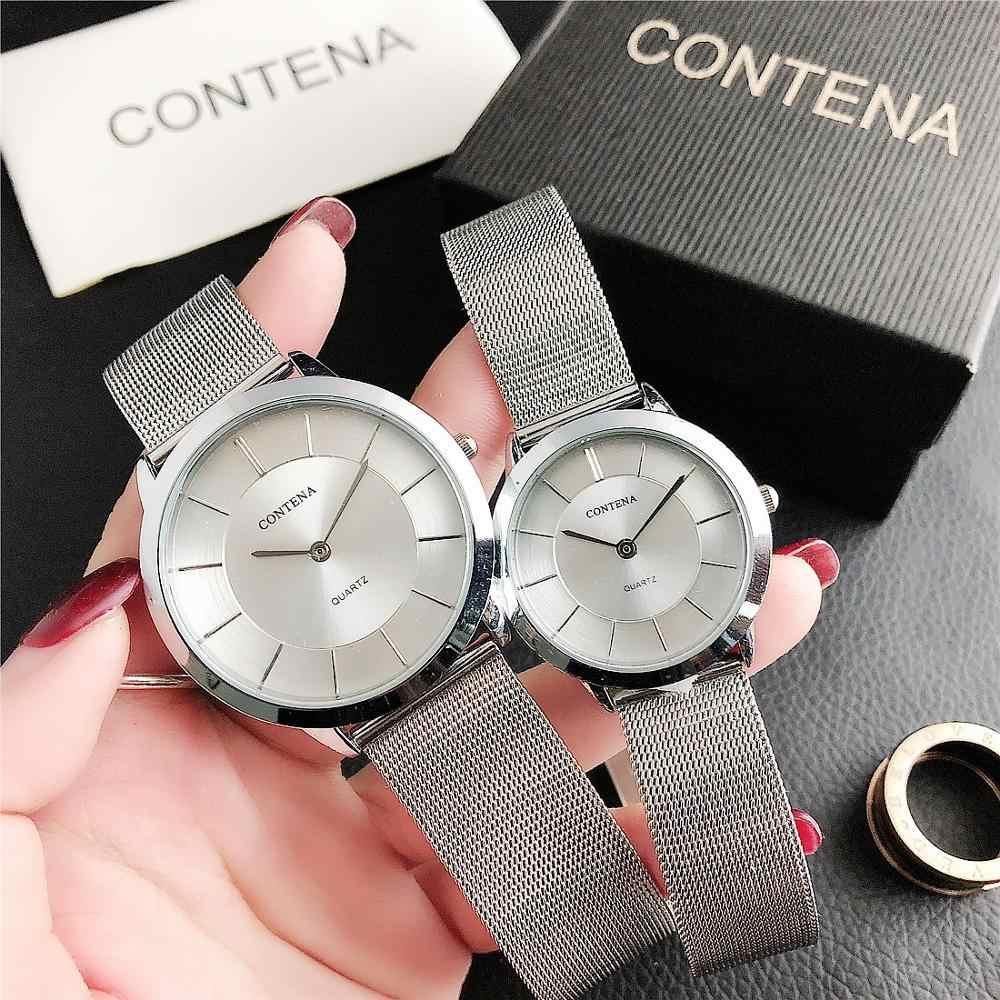 CONTENA Set Uhren Männer Frauen Mode Luxus Quarz Uhr Rose Gold Paar Armbanduhr Top Marke Luxus Liebhaber Paar Wriswatches