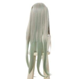 Image 3 - L email wig Nene Yashiro Cosplay Wig Jibaku Shounen Hanako kun Cosplay Long Grey Green Straight Heat Resistant Synthetic Hair