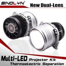 SINOLYN Headlight Lenses Bi LED Lens I5 3.0 inch HID Projector BILED Light Lamps Kit 6000K 5200LM Car Accessories Retrofit Style