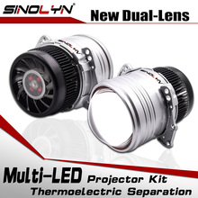 Светодиодный светильник SINOLYN с линзами bi объектив I5 3,0 дюймов HID проектор Bi светодиодный светильник комплект ламп 6000K 5200LM автомобильные аксессуары модифицированный стиль