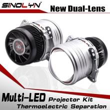 SinolynヘッドライトレンズバイledレンズI5 3.0インチhidプロジェクターbiledライトランプキット6000 18k 5200LM車アクセサリー改造スタイル