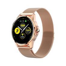 Круглый умный Браслет R23 Смарт-часы монитор сердечного ритма фитнес-трекер полный сенсорный ЖК-экран IP67 водонепроницаемый смарт-браслет