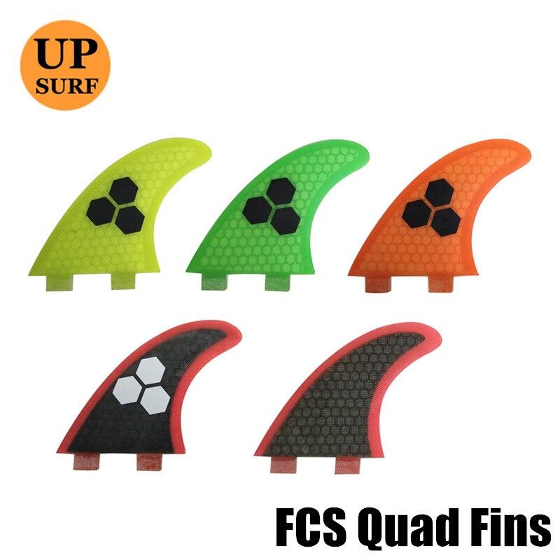 FCS Surfboard Fins Quad G5+K2.1 Fiberglass HoneyComb FCS Surf Fin Upsurf Free Shipping
