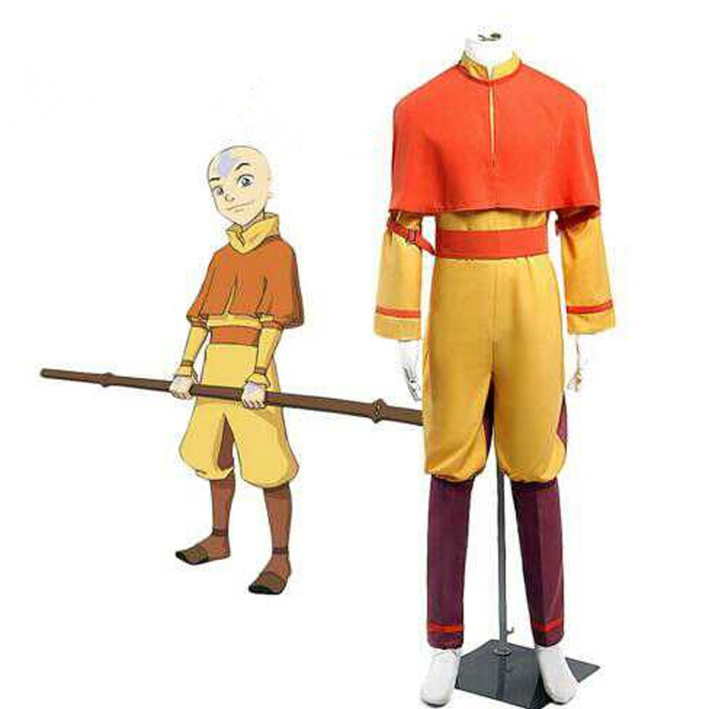 Customize for adults and kids Free Shipping Cosplay Costume <font><b>Avatar</b></font> The Last Airbender Bumi <font><b>Avatar</b></font> <font><b>Aang</b></font> Uniform Halloween image