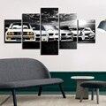 Картина на холсте, эволюция автомобиля, настенное искусство, 5 шт., картина, печать на холсте, современные настенные картины, домашний декор