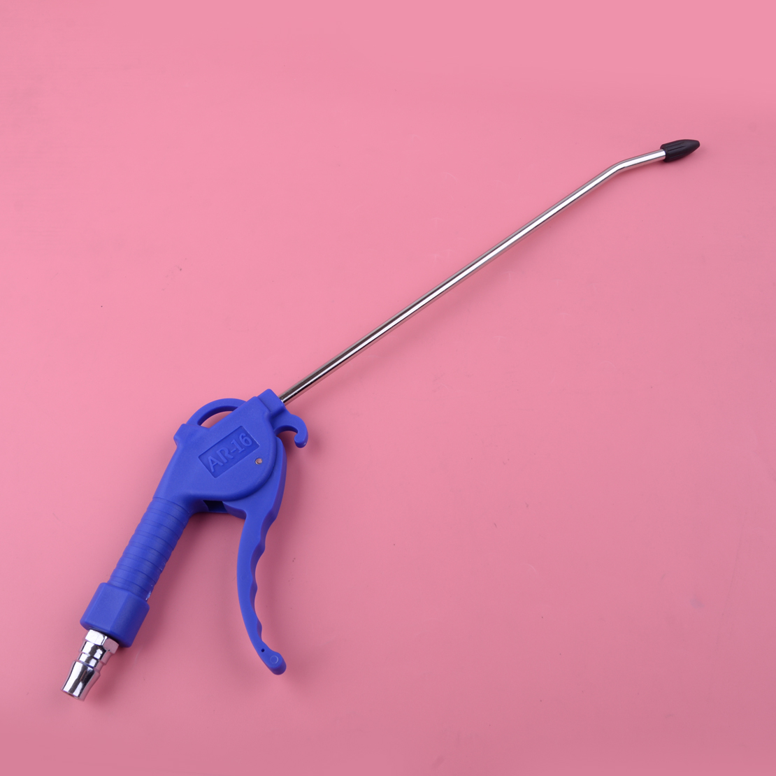 DWCX 2mm Blue Handle Offset Tip Angle Nozzle Duster Cleaner Air Blow Pistol Grip Dust Blower Tool