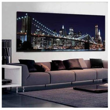 5D DIY Diamond Painting Diamond Embroidery New York Brooklyn Bridge Decorative Pictures Rhinestones city night Home Decoration(China)
