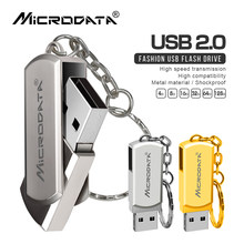 Unidad Flash USB 2,0 de Metal, 16 GB, 32 GB, 64 GB, 128 GB