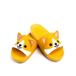 Image 5 - スーパーかわいいコーギーハスキーサンダル漫画オリジナルコスプレ衣装の靴夏の愛好家ソフト底日本ホームスリッパ素敵なギフト
