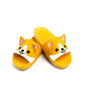 Image 5 - Super Cute Corgi Huskie Sandal Cartoon Original Cosplay Costumes Shoes Summer Lovers Soft Soled Japanese Home Slipper Nice Gift