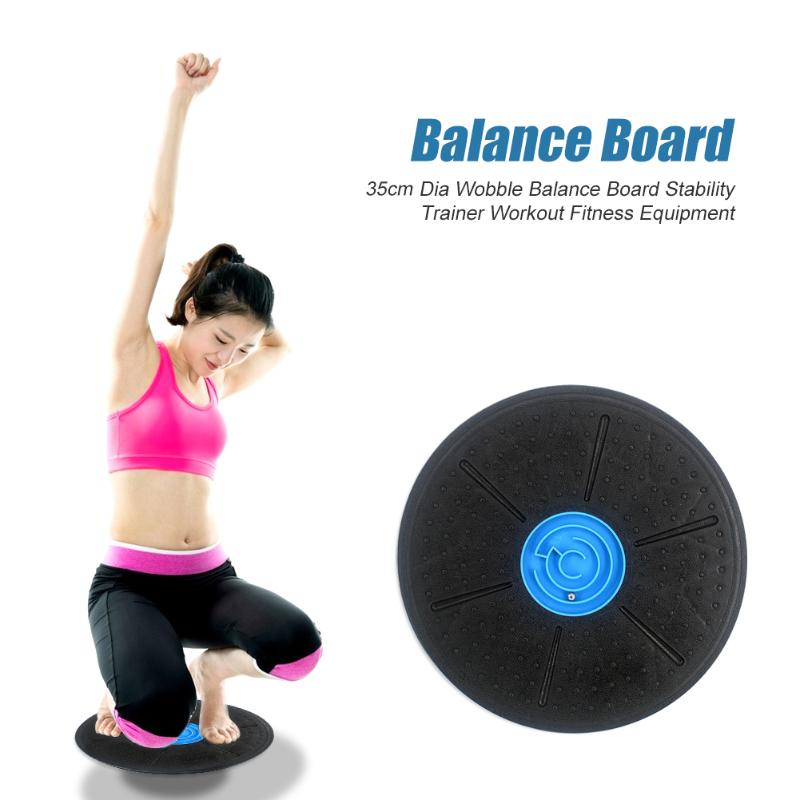 Wobble Balance Board With Maze Physical Therapy Workout Fitness Equipment 35cm Diameter Fitness Equipments Supplies