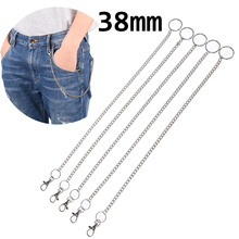 Long Metal Wallet Belt Chain Rock Punk Trousers Hipster Pant Jean Keychain  Ring Clip Keyring Men's HipHop Jewelry