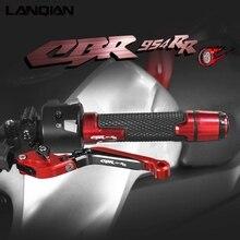 Für Honda CBR954RR Motorrad Zubehör Aluminium Bremse Kupplung Hebel Lenker Hand Griffe enden CBR 954 RR 2002 2003 Teile