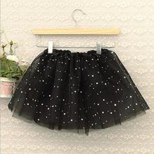 Детская юбка-пачка на Хэллоуин; юбки для девочек; одежда для маленьких девочек; черная юбка-пачка с блестками и звездами для девочек; детская юбка; фатиновая юбка для маленьких девочек