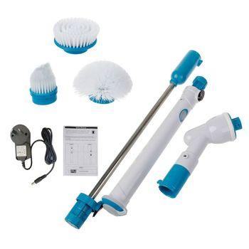 調節可能なターボスクラブ充電防水電動クリーニングブラシワイヤレス解消浴室台所ホームツール