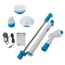 Turbo ajustável esfrega carregamento à prova dwireless água escova de limpeza elétrica sem fio limpar ferramentas cozinha do banheiro casa