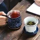 Jingdezhen 999 argent thé tasse émail en céramique café tasses Vintage tasse bureau maître eau tasses artisanat Collection comme cadeau de noël - 4