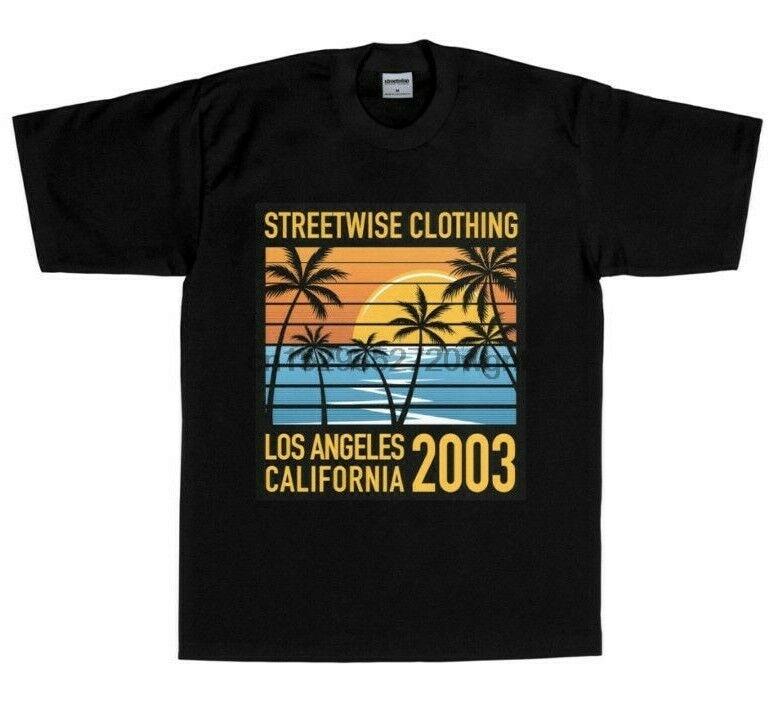 STREETWISE California State Tags T-shirt Urban Streetwear Adult Men/'s Tee New