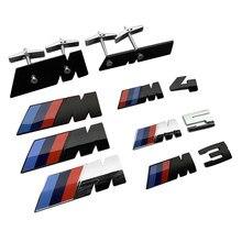 1Pcs 3D Acessórios de Metal M Emblema Grade Dianteira Do Carro Trunk Emblema Para BMW X1 X2 X3 X4 X5 X6 M2 M3 M4 M5 M1 E90 E60 E46 F10 F30