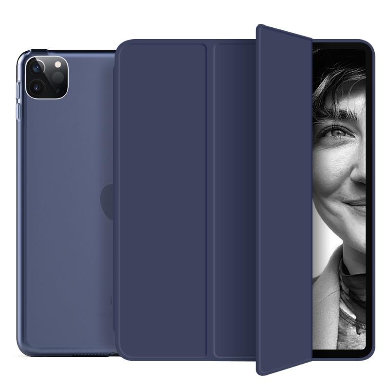 Navy blue Blue For New iPad pro 11 inch 2020 case Smart Auto wake up Tri fold hard bracket