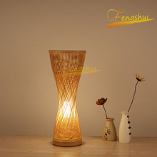 New Chinese Style Bamboo Hand-woven Table Lamp Lighting Modern LED Small Waist Table Lights Bedroom Bedside Living Room Lamps chinese style retro table lamps shell bedside lamp bedroom living room bar coffee gifts table lights green white lighting za