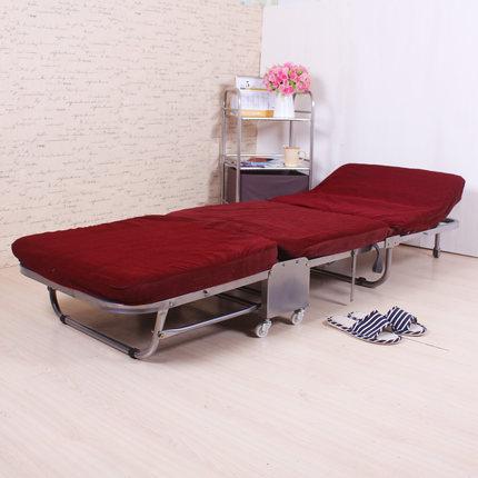 Односпальная кровать для обеда, Офисная трехслойная губчатая складная кровать, простая кровать для отдыха - Цвет: red