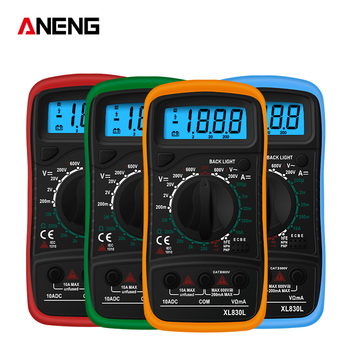 ANENG XL830L Digital Pocket Multimeter Multimetro Multi Meter Range Multimetros Transistor Tester Electronic Multimeter цена 2017