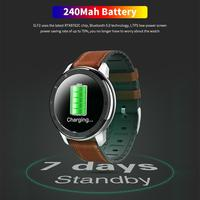ELF2 PPG + ECG Smart Watch 1.3 Inch Full Round Touch Screen 360*360 HD Resolution Stainless Steel Case Strap Replaceable