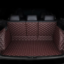 Custom leather Car Trunk Mats For mitsubishi pajero sport outlander x grandis ASX Lancer Galant 2018 Car Cargo Rear Boot Liner(China)