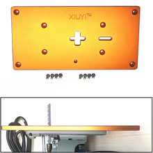 Electric jig saw flip board Aluminum Router Table Insert Plate For Jig Saw Woodworking work Benches cheap