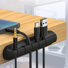 Cable Organizer Magnetic Silicone USB Cable Winder Fiber Data Cable Protector For Mouse Wire Desktop Mobile Phone Accessories