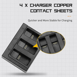 Image 4 - SHOOT Dual / Triple Port Battery Charger with 1220mAh Battery for GoPro Hero 8 7 6 5 Black Camera for GoPro 8 Changing Accessory