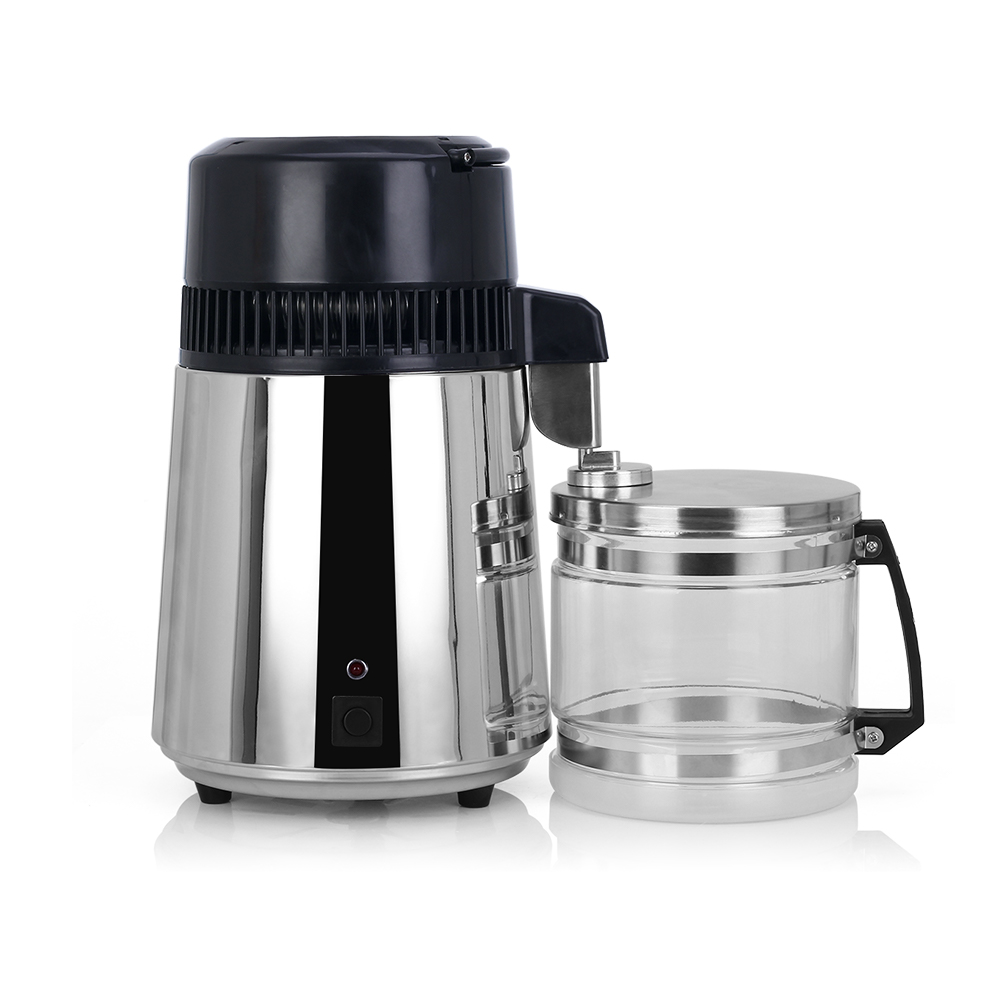Household 4L Home Pure Water Filter Distiller Machine Distilled Water Distillation Purifier Filter Stainless Steel Glass