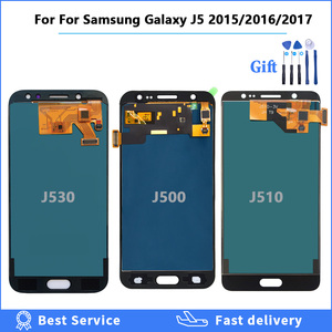 Brightness Adjustbale LCD For Samsung Galaxy J5 2016 2017 2015 J530 J510 J500 LCD Display Touch Screen Digitizer Assembly + Tool