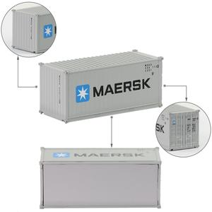 Image 4 - Contenedor de 20 pies de escala N mixto, contenedor de envío de 1:150 20 pies, accesorio de modelo, 3 uds.