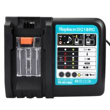 14.4-18V Lithium Battery Charger DC18RC Replacement for MAKITA Li-ion Battery EU Plug 220V Lithium Battery Charger(China)